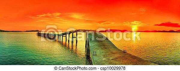 Sunset panorama - csp10029978