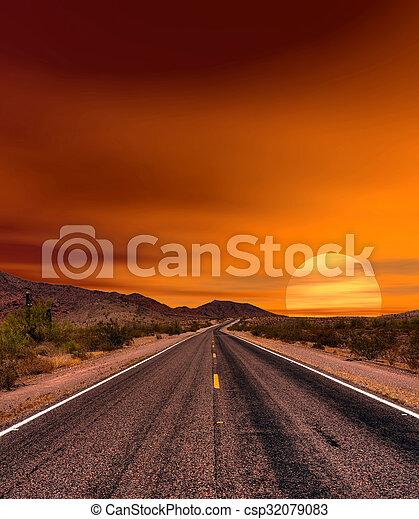 Sunset Road - csp32079083