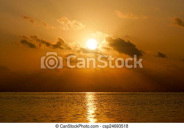 Sunset sky - csp24693518