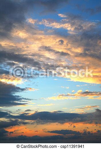sunset sky - csp11391941