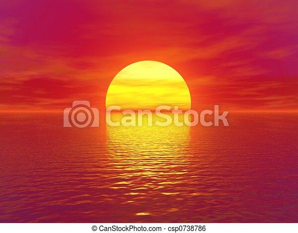 sunset - csp0738786