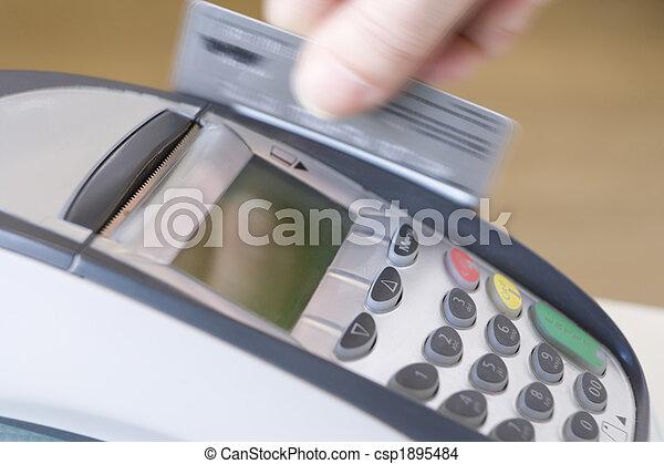 Swiping Credit Card - csp1895484