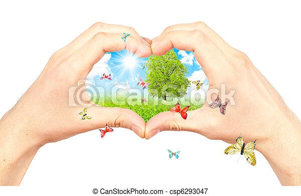 Symbol of the environment. - csp6293047