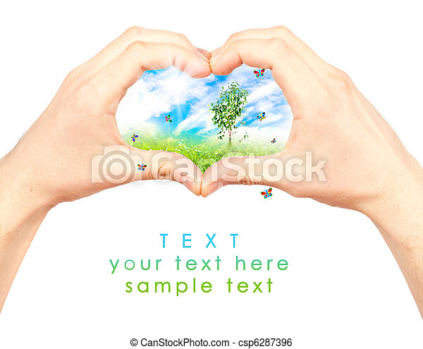 Symbol of the environment. - csp6287396