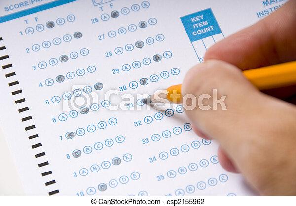 Taking an Examination or Test - csp2155962