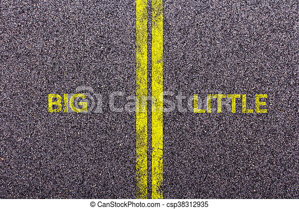 Tarmac with the words big and little - csp38312935