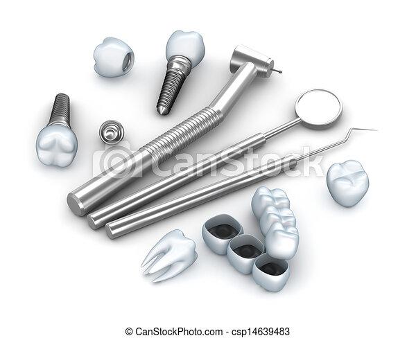 Teeth, implants, and dental - csp14639483