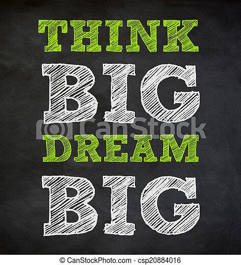 THINK BIG and DREAM BIG - written concept - csp20884016