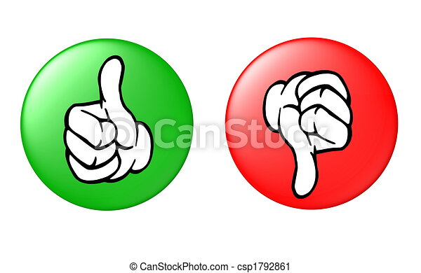 thumb up and down button - csp1792861