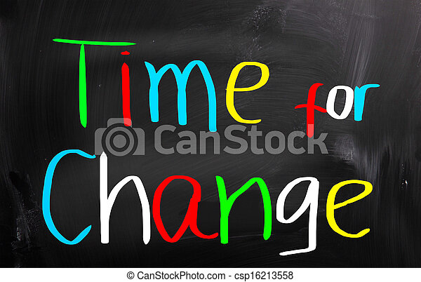 Time For Change Concept - csp16213558