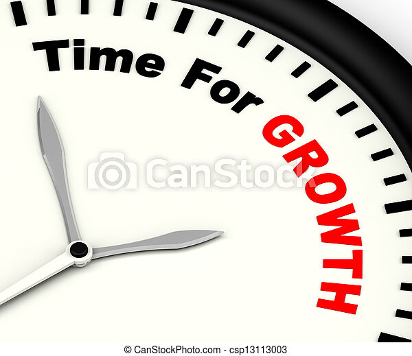 Time For Growth Message Showing Increasing Or Rising - csp13113003