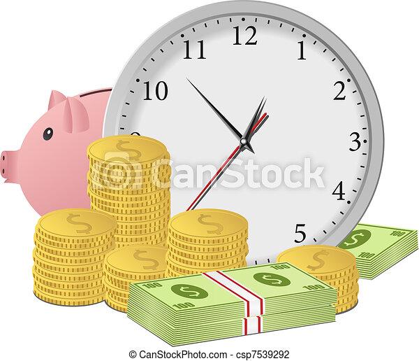 Time is money concept - csp7539292