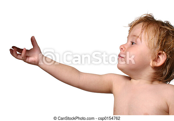 toddler reaching for object - csp0154762