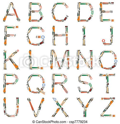 Tools Alphabet - csp7779234