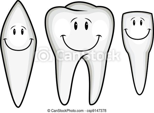 Tooth cartoon collection - csp9147378
