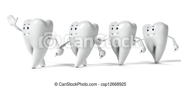 Tooth character - csp12668925
