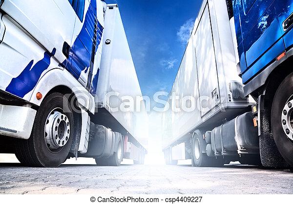 Two big trucks - csp4409227