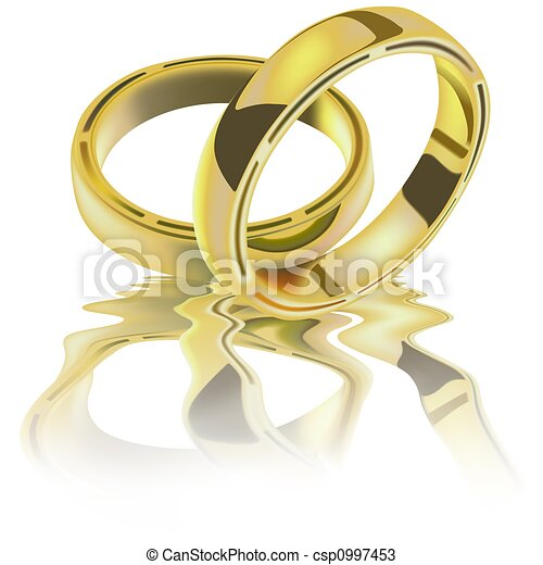 Two Wedding Rings - csp0997453