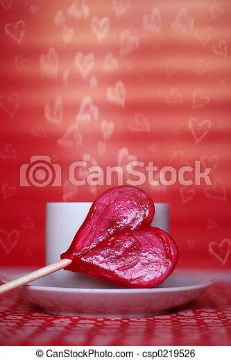 valentine's card - csp0219526