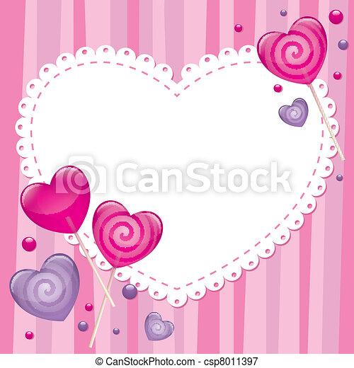 valentine's day greeting card - csp8011397