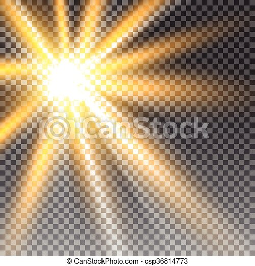 Vector transparent sunlight - csp36814773
