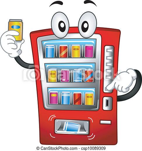 Vending Machine Mascot - csp10089309