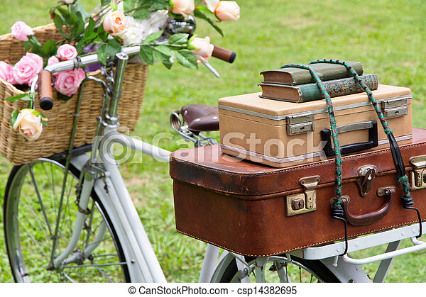 Vintage bicycle on the field - csp14382695