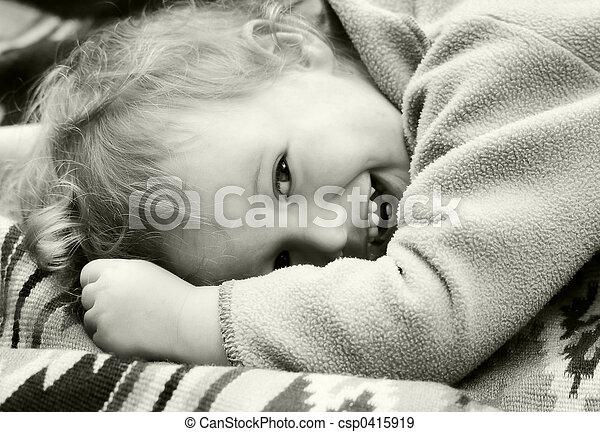 Vintage laughing kid - csp0415919
