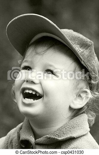 Vintage laughing kid - csp0431030