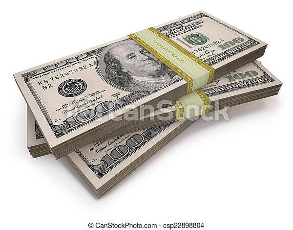 Wads Dollars - csp22898804