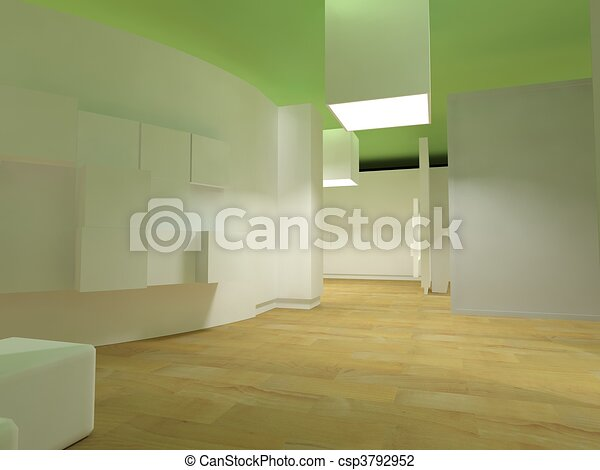 Waiting room in a hospital or clinic with empty space - csp3792952
