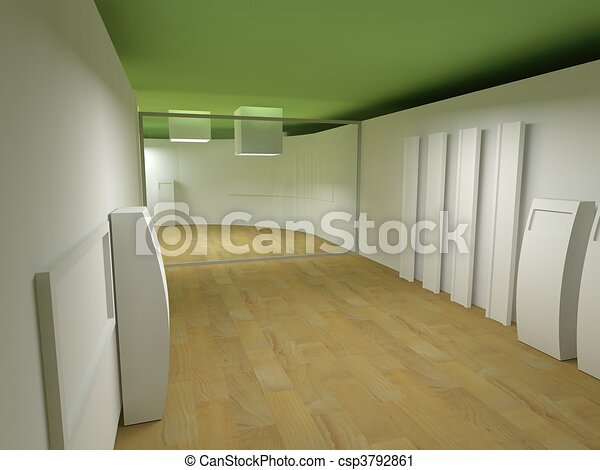 Waiting room in a hospital or clinic with empty space - csp3792861