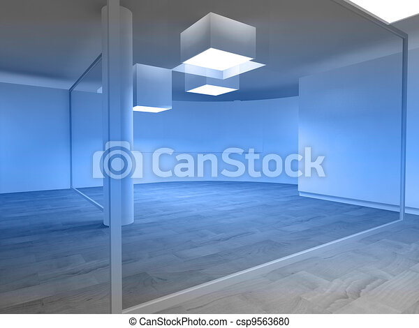 Waiting room in a hospital or clinic with empty space - csp9563680