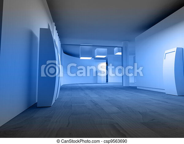 Waiting room in a hospital or clinic with empty space - csp9563690