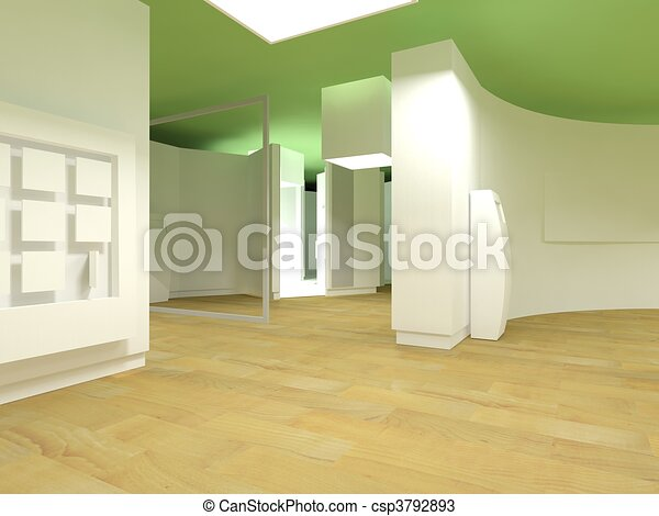 Waiting room in a hospital or clinic with empty space - csp3792893