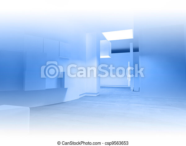 Waiting room in a hospital or clinic with empty space - csp9563653