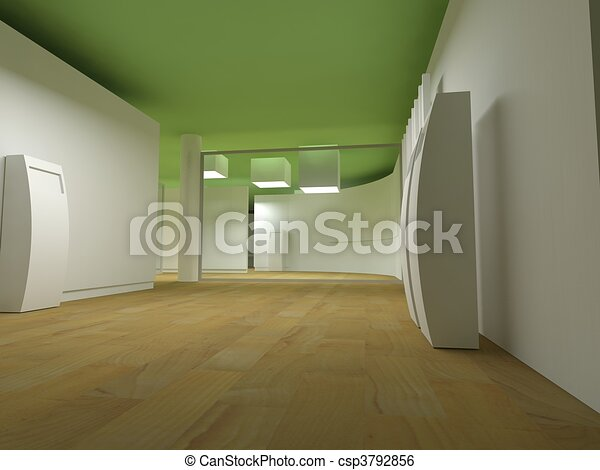 Waiting room in a hospital or clinic with empty space - csp3792856