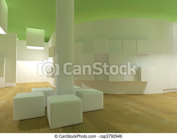 Waiting room in a hospital or clinic with empty space - csp3792946