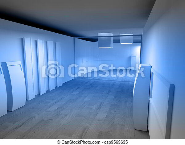 Waiting room in a hospital or clinic with empty space - csp9563635