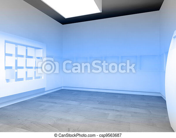 Waiting room in a hospital or clinic with empty space - csp9563687