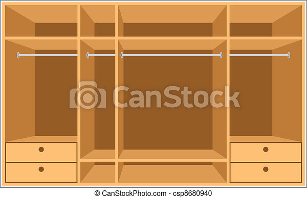 Wardrobe room. Furniture - csp8680940