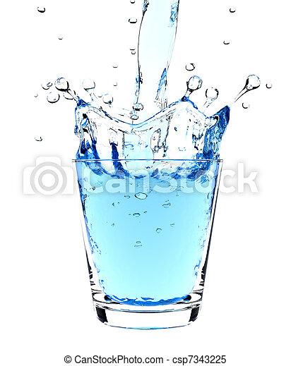 Water splash in glass - csp7343225