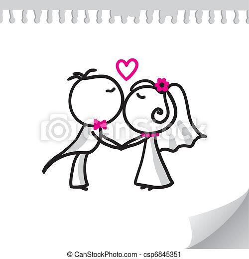 wedding couple - csp6845351