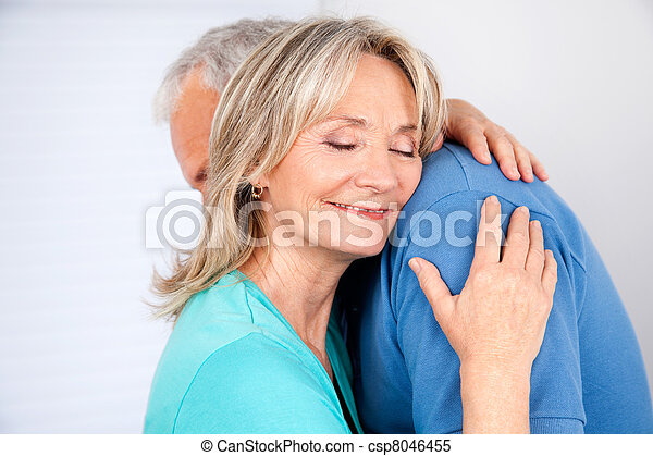 Wife Hugging Her Husband - csp8046455