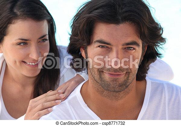 Woman admiring her husband - csp8771732