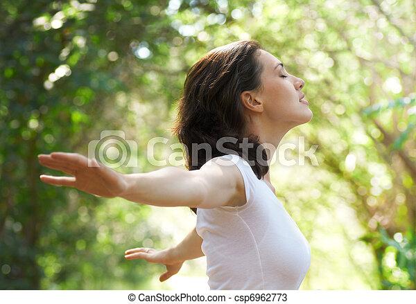 woman enjoying summer - csp6962773