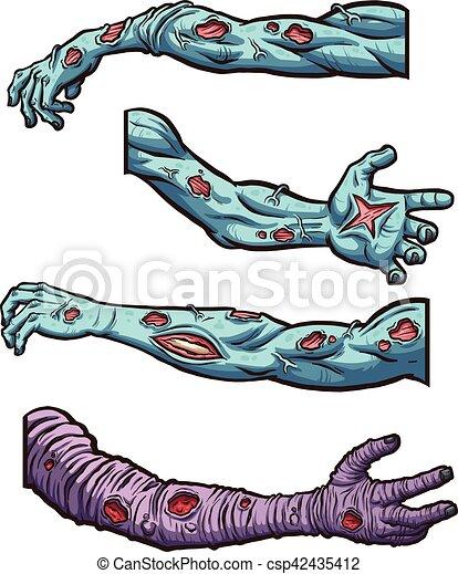 Zombie arms - csp42435412
